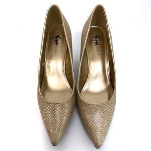 Fioni Night Mira Metallic Point Heels